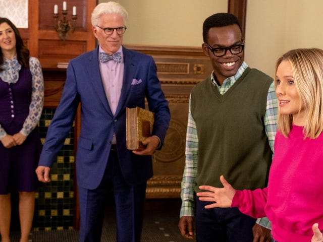 The Good Place gets close enough to the Good Place to make us question everything