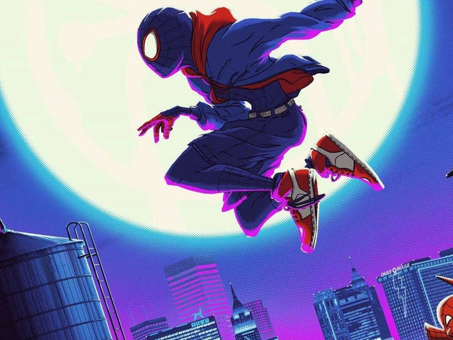 This GorgeousSpider-Man: Into the Spider-Verse Poster Has Multiple Dimensions of Its Own