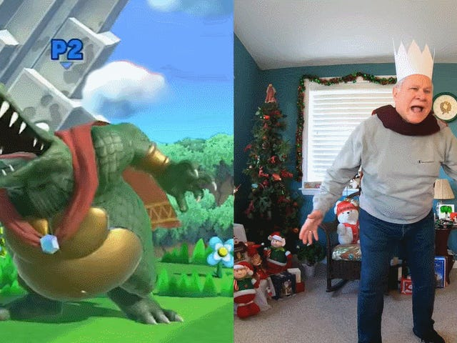 Goofy Dad Returns To Recreate Smash Bros. Ultimate Taunts