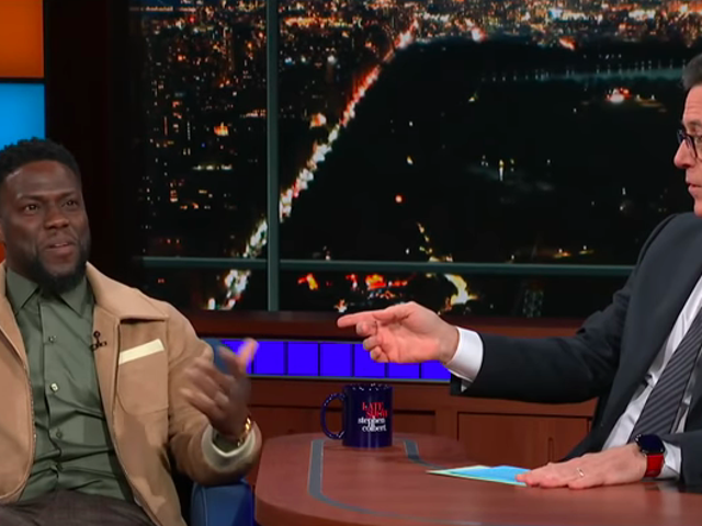 On The Late Show, Kevin Hart talks more about how he's done talking about his anti-gay comments