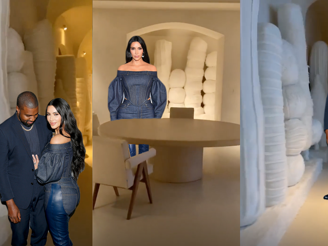 Kim Kardashian Decorates Home With Large, White Christmas Dildos