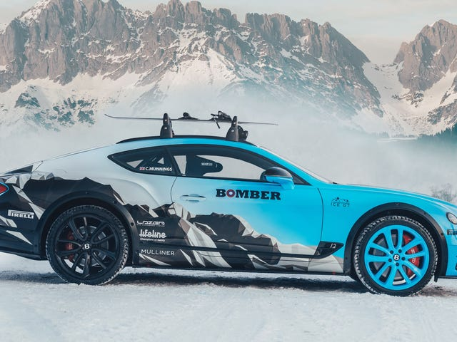 This Bentley Continental GT Was Built To Tow A Skier In A Sport Called Skijoring