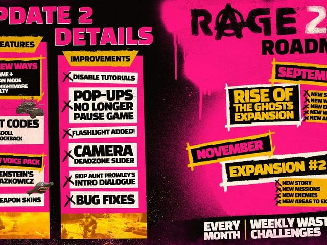 Today's update to Rage 2 adds a New Game Plus and two new difficulty modes