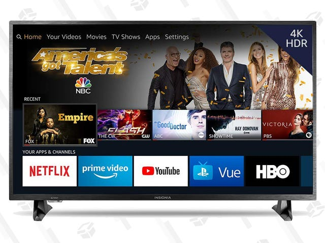 """At $270, This 50"""" Fire TV-Powered 4K UHD Insignia Set is a Solid Bargain"""