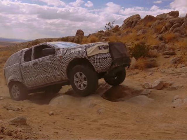Her vises Ford Bronco-prototypen fra 2020