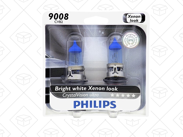 Brighten Your Car's Headlights with $5 Off Philips CrystalVision Bulbs