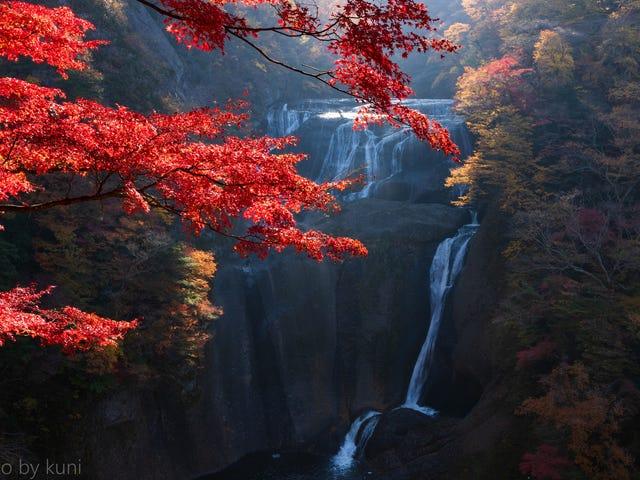 秋天的瀑布