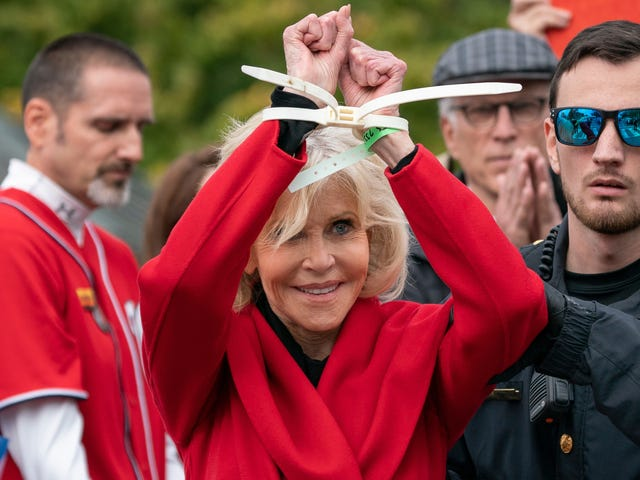Multitasker Jane Fonda Can Accept Awards and Get Arrested at the Same Time