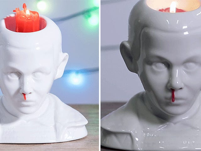 This Stranger Things 'Eleven's Bleeding Nose' Candle Holder Is Just the Creepiest