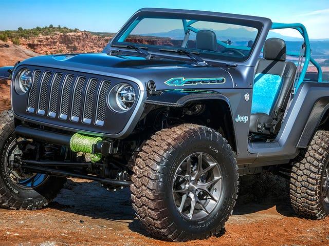 El concepto 4SPEED de Jeep es tan ligero que obtiene un levantamiento de dos pulgadas gratis