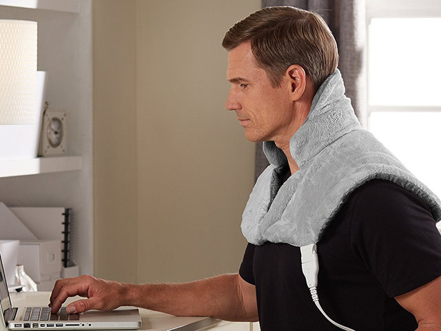 Gift Your Sore Shoulders This Discounted Sunbeam Heating Pad