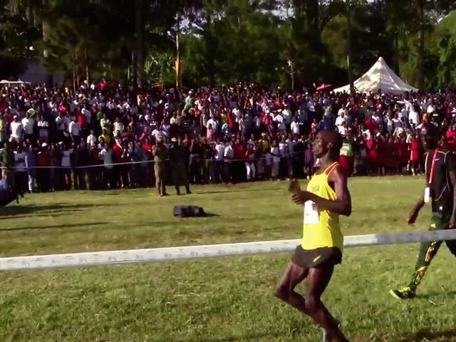 Ahead For 9,400 Meters,Joshua CheptegeiWobbles To Finish AtWorld Cross Country Championships