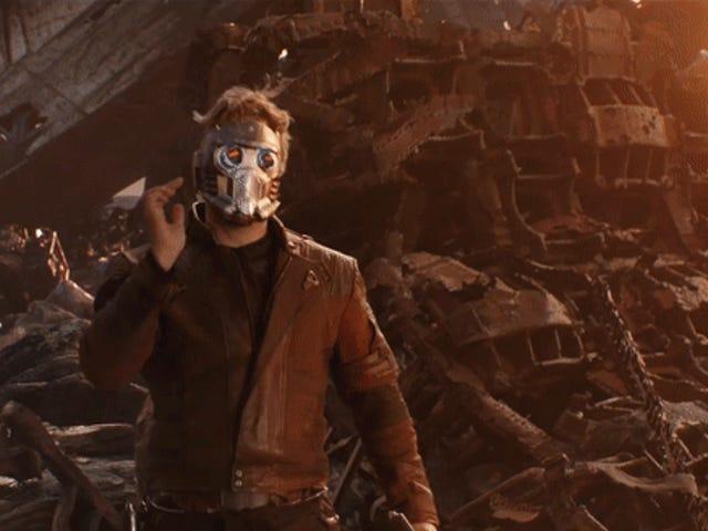 Chris Pratt Flips Out (Literally) in This Goofy <i>Avengers: Infinity War</i> Reel<em></em>