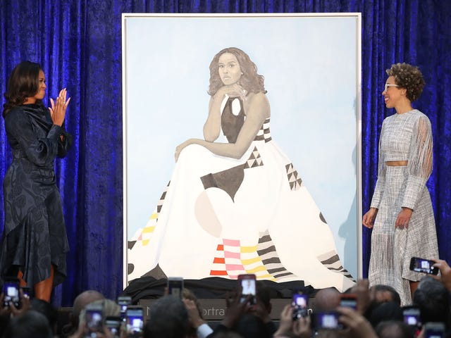 How Popular Is Michelle Obama? So Popular That the Smithsonian Had to Move Her Portrait Because of 'High Volume of Visitors'