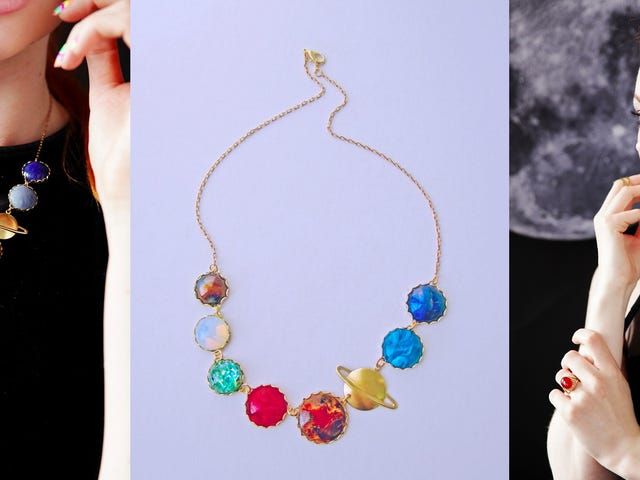 Celebrate Your Love of Space With This Solar System Necklace