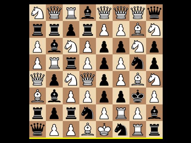 Confundindo as regras do xadrez, oito maneiras diferentes