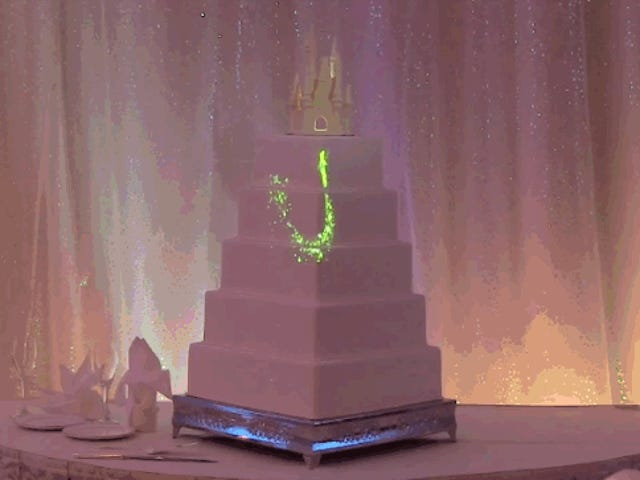 Ingest A Fairy Tale With Disney's Projection Mapping Wedding Cake