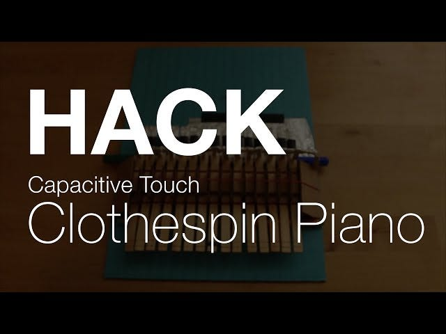 DIY Clothespin Piano Keyboard Makes Your Piano App Even Better