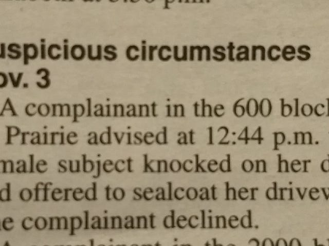 Why the shit is this in the police blotter????
