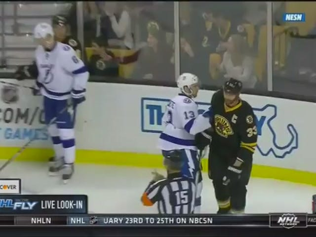 Zdeno Chara Drops Cedric Paquette Med One Punch
