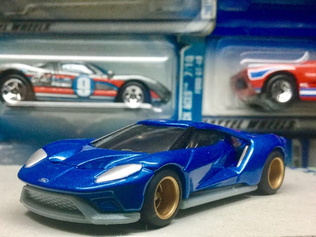 A wheelswapped Tomica Ford GT