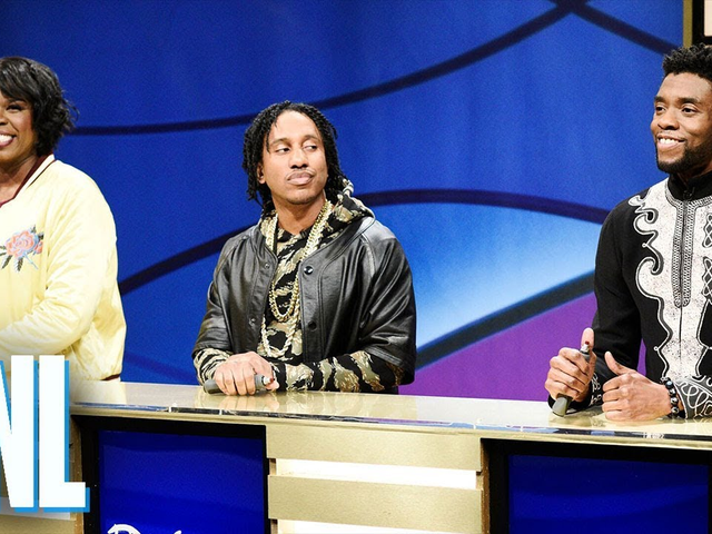 Chadwick Boseman, dün geceki cumartesi gecesi canlı olarak T'Challa rolünü yeniden yayınladı