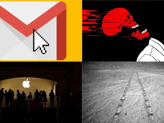 Opportunity Rover, Nya Gmail Funktioner och Dödshastigheter: Bästa Gizmodo Stories of the Week