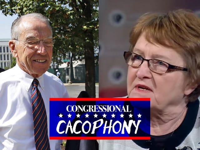 Alguém poderia destituir o senador Chuck Grassley depois de 36 malditos anos e um milhão de Tweets de Batshit?