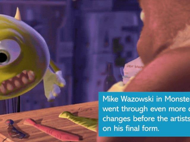Te costará reconocer a los personajes más míticos de Pixar en sus primeros bocetos