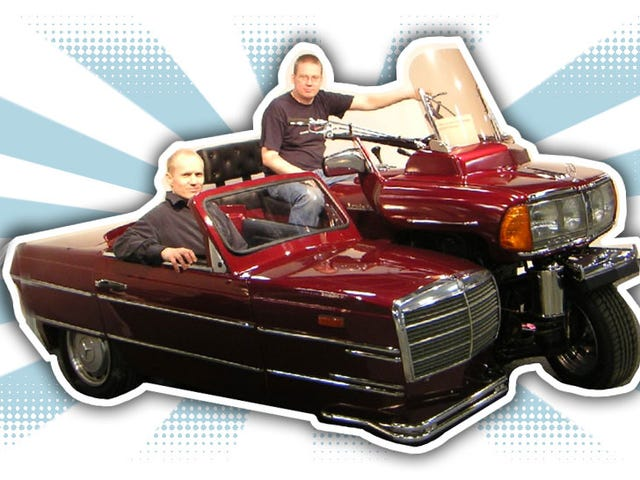 This Mercedes-Benz 240D Motorcycle And Sidecar Is Bewilderingly Wonderful