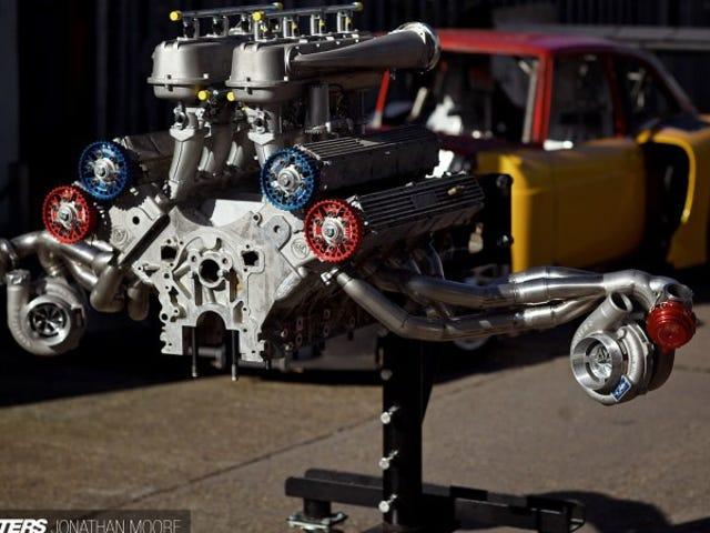 Цей Rover-Lotus BiTurbo V8 - це найперший движок Franken-Engine