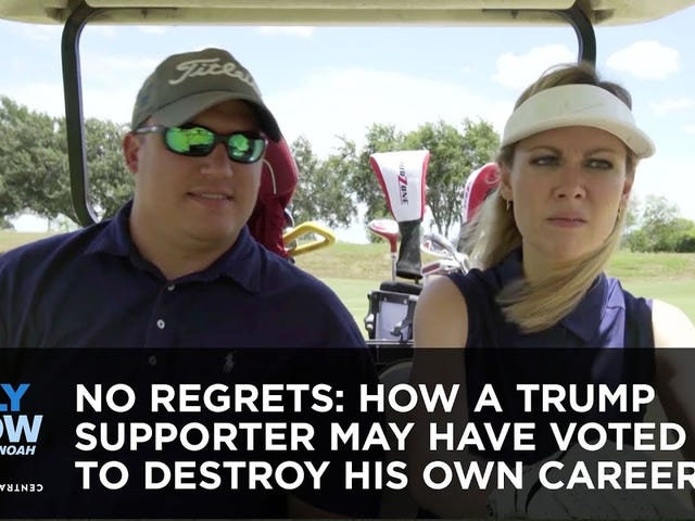 "Muslim ""ban"" = okay. Driving on the green = deplorable."