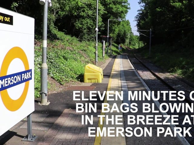 11 Minutes of bin bags blowing in the breeze.