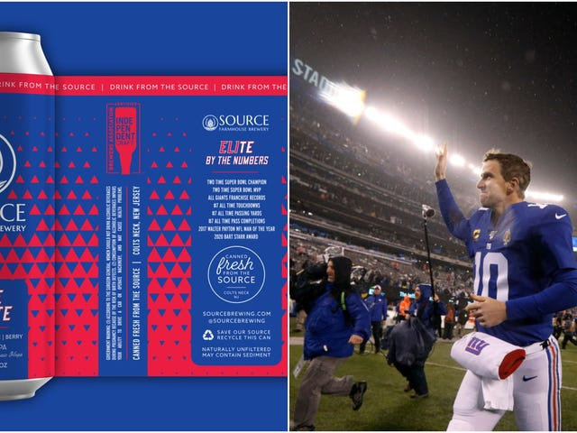 Eli Manning gets his own beer