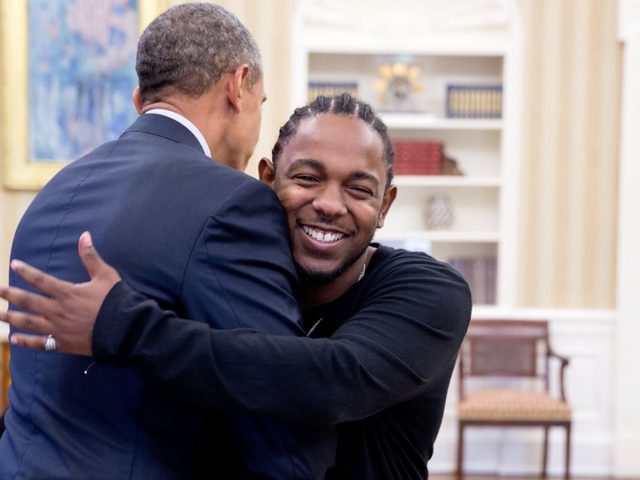 Look at Kendrick Lamar Cheesing So Hard as He Meets Barack Obama