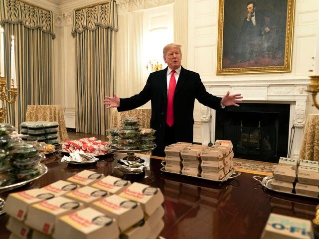 Did Trump Lie About How Many Burgers He Ordered For Clemson's White House Hoedown? The Root Investigates