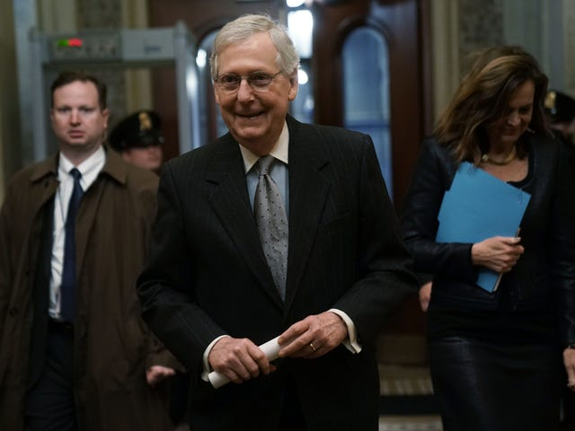 Mitch 'Turtle Face' McConnell Blocks Bill That Could've Reopened the Government