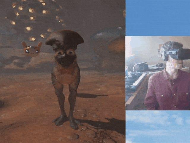 VR Game A colpo d'occhio: giocare con i miei amici alieni a <i>Farlands</i>