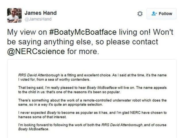 Boaty McBoatface Lives!