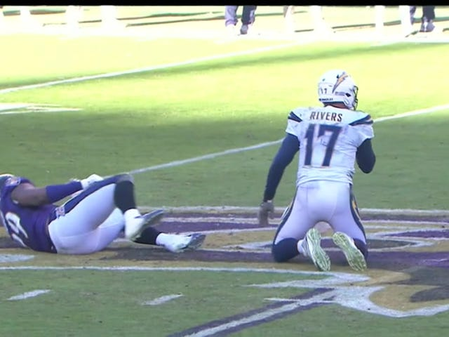 "Philip Rivers tot gewonde Matthew Judon: ""That's What You Get!"""