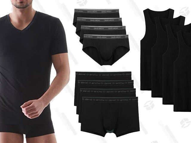 Ota 30%: n alennus David Archyn alusvaatteista, paitoista ja sukeista vain tänään