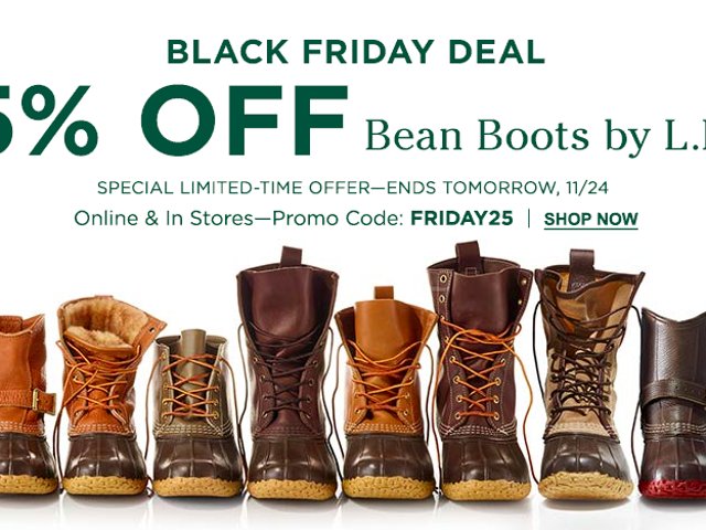 LLBean đang giảm giá 25% Bean Boots, cộng thêm 20% về cơ bản mọi thứ khác