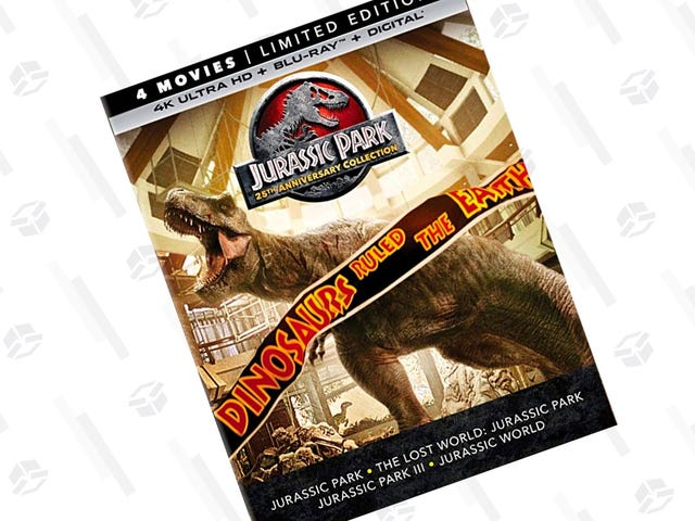 Pick Up Four Jurassic Park Movies and A Ton of Bonus Content With This 25th Anniversary Package