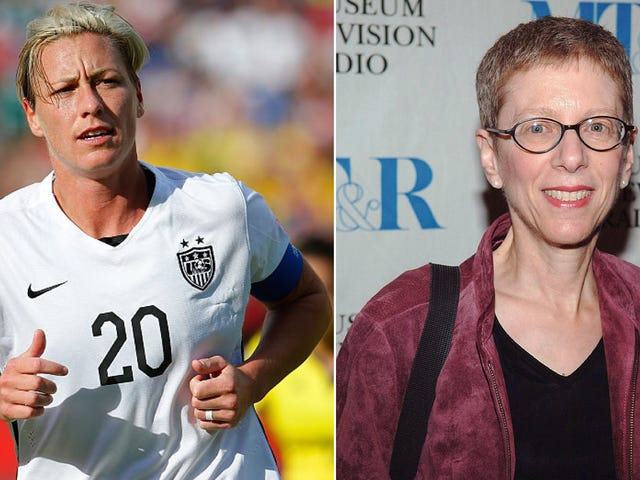 Terry Gross Asks Abby Wambach If Sleeping With a Man Helped Her Figure Out the Whole Lesbian Thing