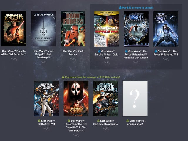 Star Wars Humble Bundle mérite votre attention