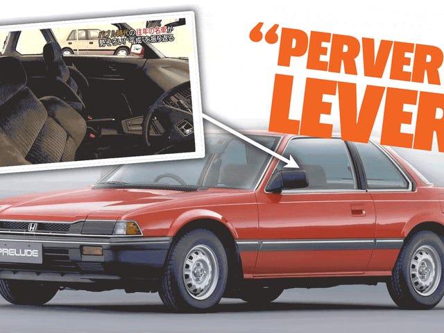Prelude Honda Adalah Kontroversial Di Jepun Kerana Sesuatu Dipanggil 'Pervert Lever'
