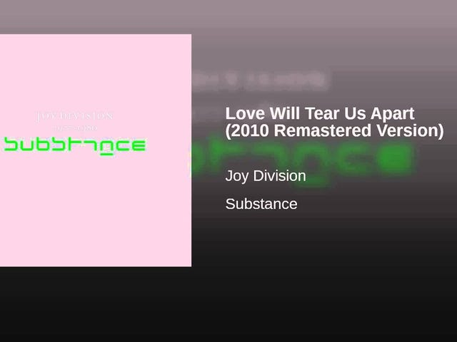 Joy Division -- 'Love Will Tear Us Apart'
