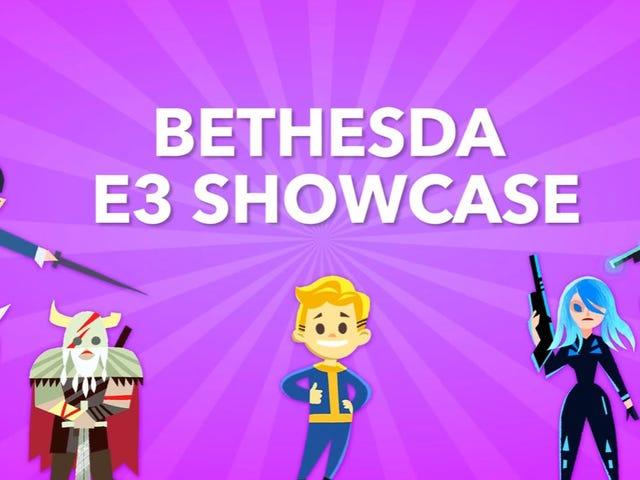 Jesteśmy konferencją prasową E3 na żywo na żywo Bethesda [Aktualizacja: jesteśmy gotowi]