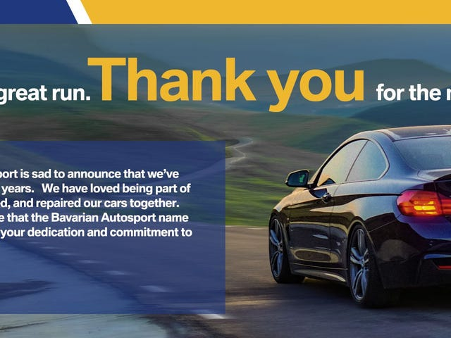 Bavarian Autosport is Closing