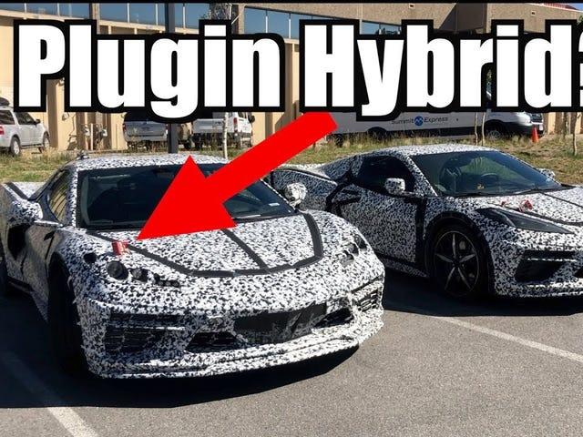 Hybrid C8 Corvettes Caught Testing